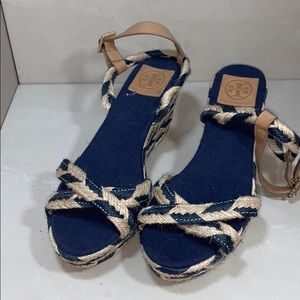 Tory Burch Wedge Espadrille Sandal Size 11